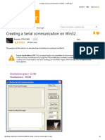Creating a Serial Communication on Win32