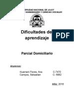 Parcial Domiciliario de Dificultades Del Aprendizaje