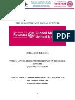 Rotaract Mun 2016 ECOSOC Study Guide