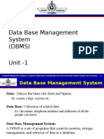 Basics of DBMS
