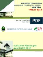 Paparan Persiapan Penyusunan Rencana Kerja Pemerintah Daerah(Rkpd) Tahun 2013