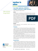 Case Study Application of Dmaic to Academic Assessment in Higher Education