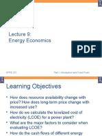 Lecture 09 Energy Economics