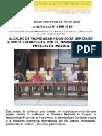 Nota de Prensa 2016 - 188