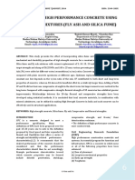 A SURVEY ON HIGH PERFORMANCE CONCRETE USING MINERAL ADMIXTURES (FLY ASH AND SILICA FUME)