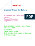 Divorce Under Hindu Law