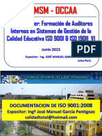 Curso Auditores 6 Documentacion de Sgc