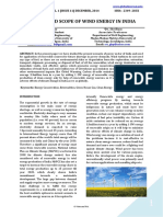 FUTURE AND SCOPE OF WIND ENERGY IN INDIA