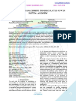CONGESTION MANAGEMENT IN DEREGULATED POWER SYSTEM