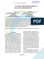DEVELOPMENT OF REAL TIME ENERGY MARKET IN DEREGULATED POWER SYSTEM