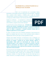 Perspectiva de Género en La Constitucion de La Republica Del Ecuador