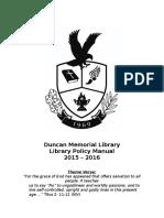 duncan memorial library manual 2015-2016