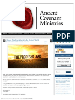 Honor, Wealth and Land in the Ancient World » Ancient Covenant Ministries