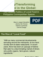 Cultural Politics of Local Food in the Philippines
