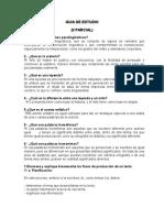 Guia de Estudio - Español Noveno