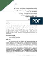 O Kosovo, Intervenção Humanitária e a Teoria Da Guerra Justa (Utilizar)