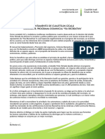 Comunicado Viarecreativa Cuautitlan Izcalli Biciverde