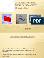 Compare the Industrial Development in India