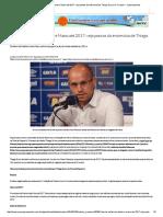 Riascos, Delamore, Bento e Mano Até 2017_ Veja Pontos Da Entrevista de Thiago Scuro No Cruzeiro - Superesportes