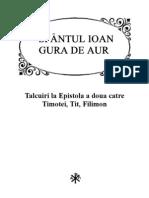 SF. Ioan Gura De Aur Talcuiri la Epistola a doua catre Timotei, Tit, Filimon