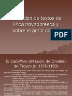 Selección de textos de la lírica trovadoresca