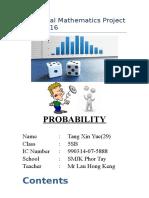 Additional Mathematics Project 2016