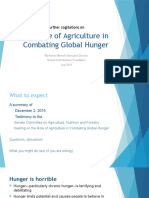 Agriculture's Role in Combating Global Hunger