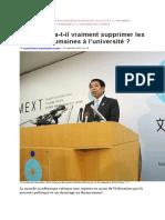 Le Japon Va t Il Vraiment Supprimer Les Sciences Humaines a l Universite