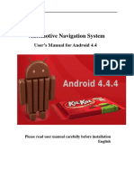 User's Manual for Android 4.4.4 Head Unit GPS Navigation System