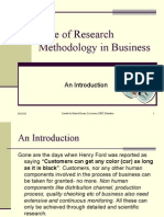 Role of Research and Research Methodology