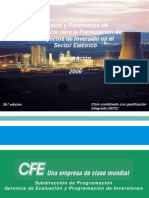 Costos y Parametros de Referencia para la Formulación de Proyectos de Inversión (COPAR) Generacion 2006