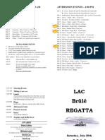 Brûlé Regatta 2016 - Program