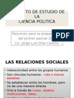 El Objeto de estudio de la ciencia política