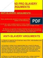 ANTI AND PRO SLAVERY ARGUEMENTS0.ppt