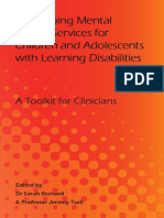 Developing Mental Health Services for Children and Adolescents With Learning Disabilities a Toolkit for Clinicians