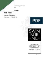 MEE40005 Human Factors Sem1Yr2016 Unit Outline(1)