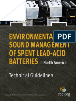 Environmentally Sound Management - Spent Lead Acid Batteries in North America