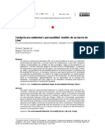 Investigacion Psicologia Ambiental Conducta Pro Ambiental Articulo