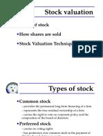 FM - 5. Stock Valuation MBA