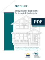 Energy Efficiency Requirements for Houses in BC