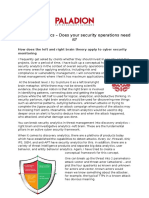 Security Analytics - Does Your Security Operations Need It (Byline Article by Paladion)