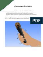 Cómo Cantar Con Micrófono
