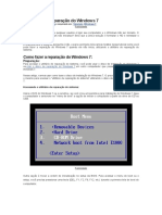 Como Fazer a Reparação Do Windows 7