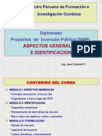 Proyectos de Inversión Pública SANEAMIENTO
