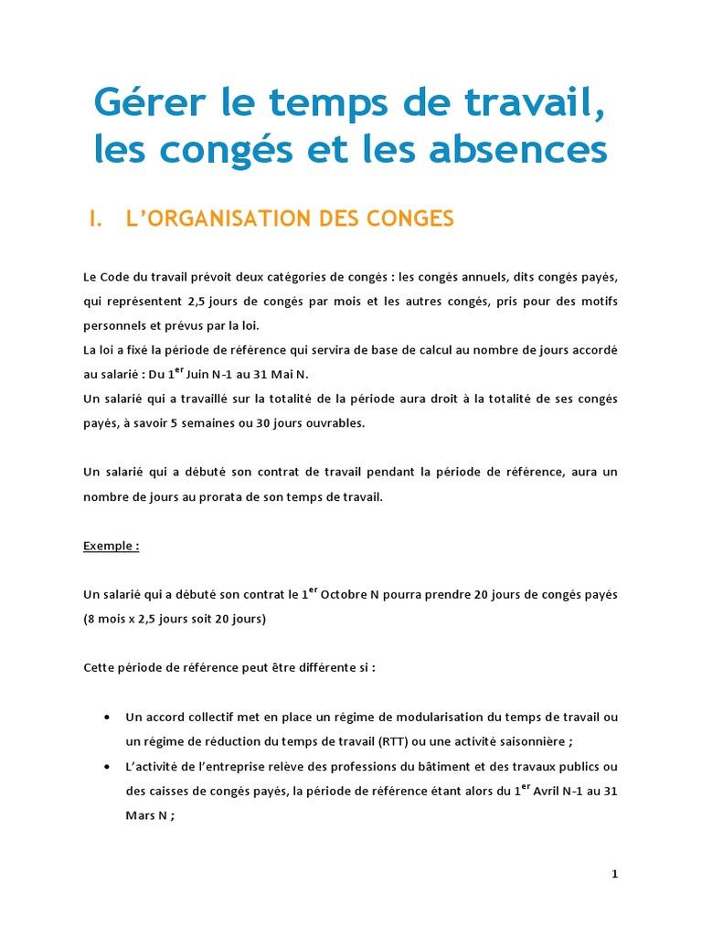D7821a9ba416abcf186b5382522ce870 Rh Temps De Travail Conges Abcences