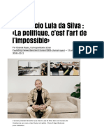 Luis Inacio Lula Da Silva _ «La Politique, c'Estl'Art de l'Impossible» - Libération