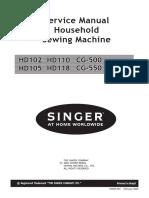 Singer Cg500 550 590 Service Manual