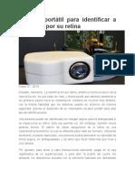 Escáner Portátil Para Identificar a Personas Por Su Retina