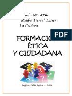 Cuadernillo Formacion Etica y Ciudadana 2016