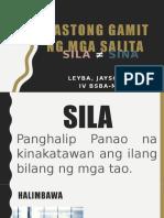 SILA ≠ SINA